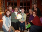The Steeplechase Book Club. Check out the cake...it's a chicken !